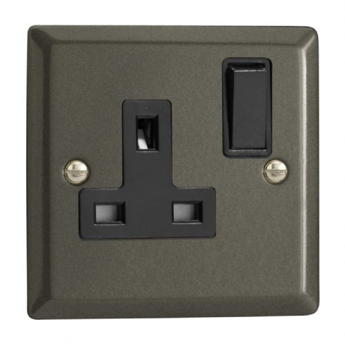 Varilight XP4B Classic Graphite 21 1 Gang 13A DP Single Switched Plug Socket